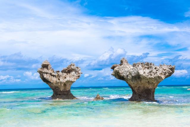 沖縄の絶景スポット「古宇利大橋」ハートロック