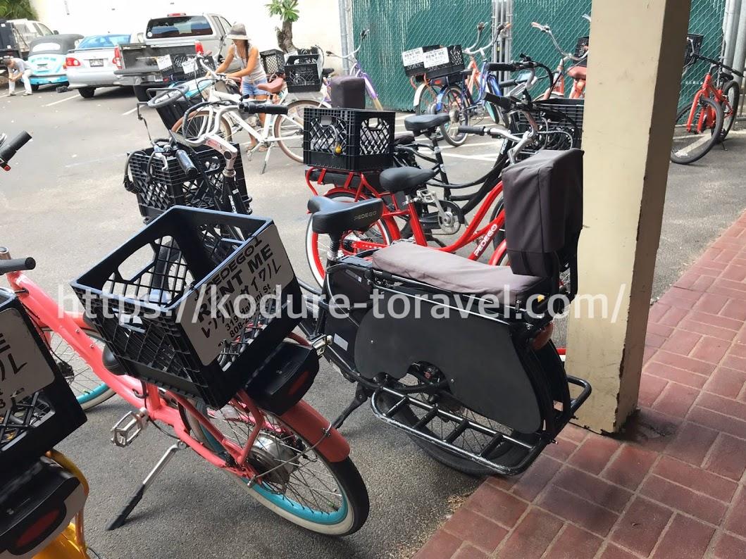 ペデゴカイルアの3人乗り自転車