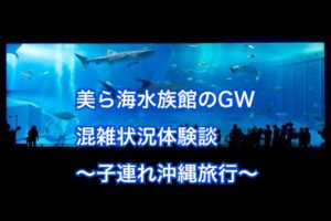美ら海水族館のゴールデンウィークの混み具合は?