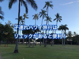 ハワイ子供連れの旅行はリュックが必要?