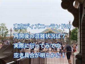 東京ディズニーランド再開後の混雑状況(混み具合)は?空いてるは本当か行ってきた!